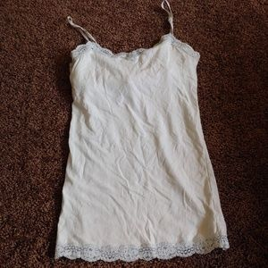 Aeropostale white shelf bra tank top